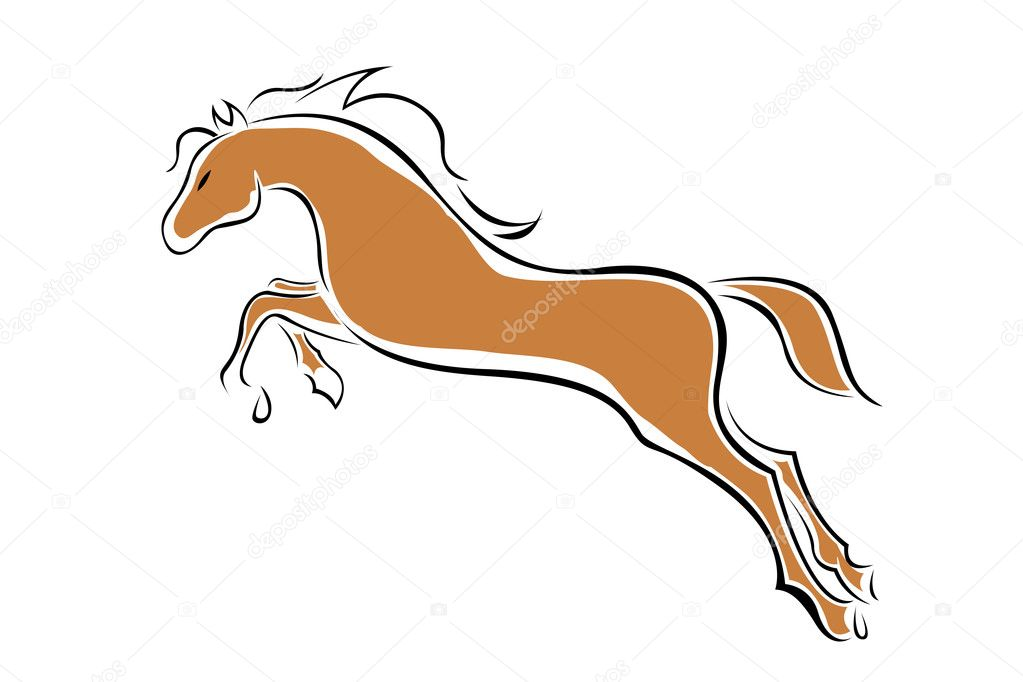 Illustration of vector horse on isolated background — Stock Photo #4164442