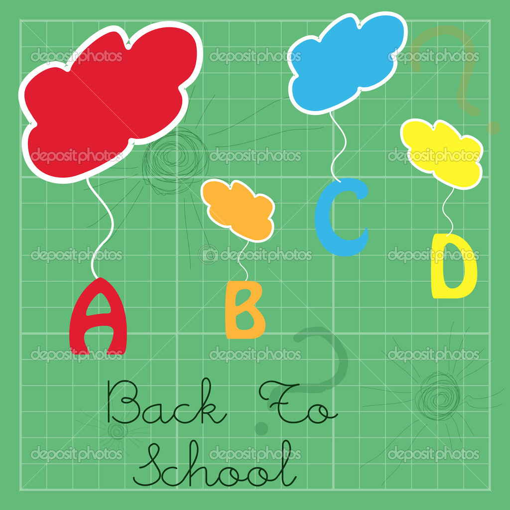 Illustration of abc hanging from clouds — Stock Photo #4164593