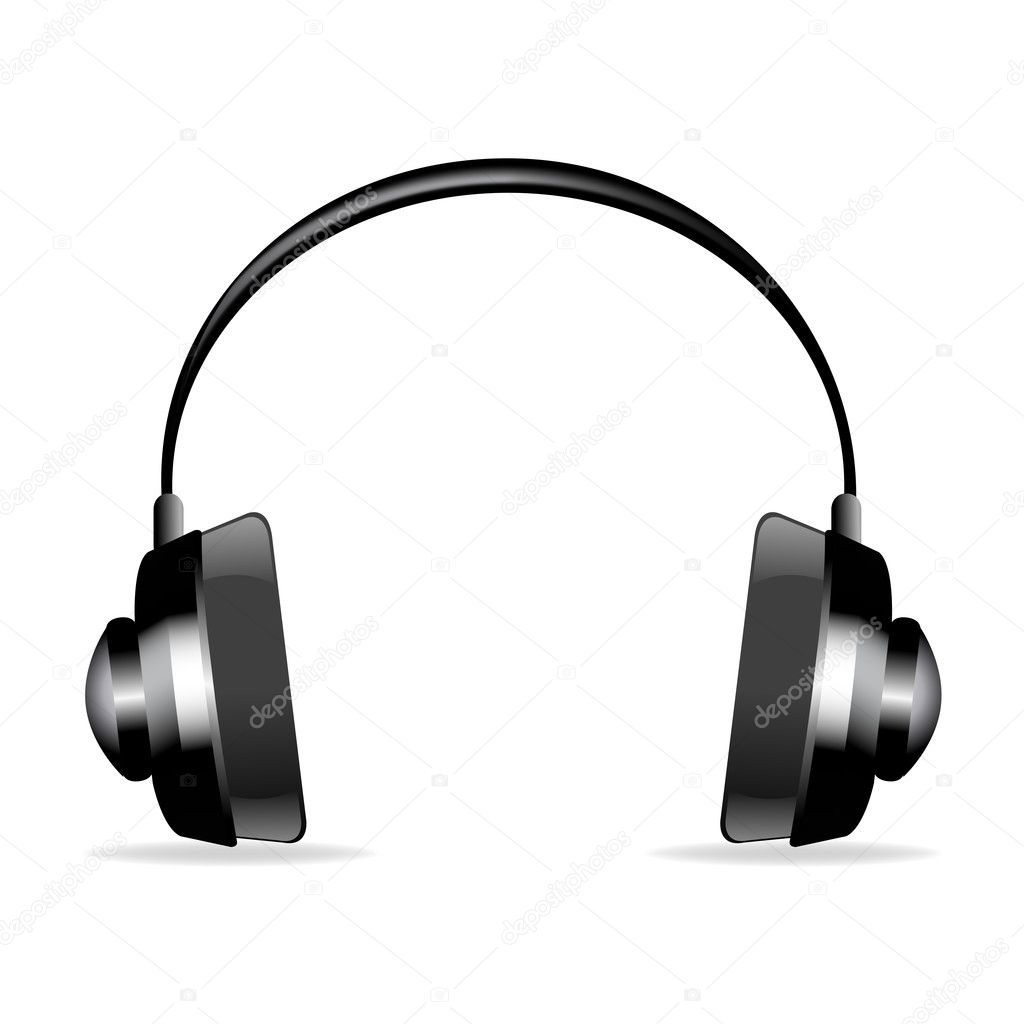 Illustration on headphone on isolated white background — Stock Photo #4164762