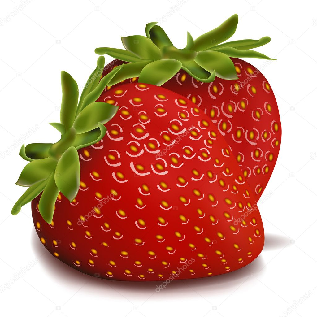 Illustration of strawberries on isolated background — Stock Photo #4164763