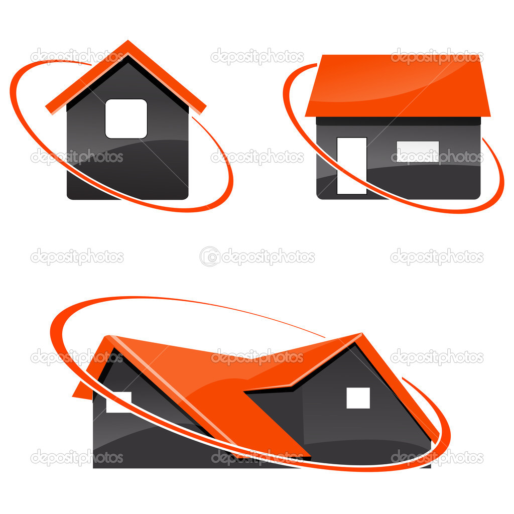 Illustration of different home icons on isolated white background — Stock Photo #4164803