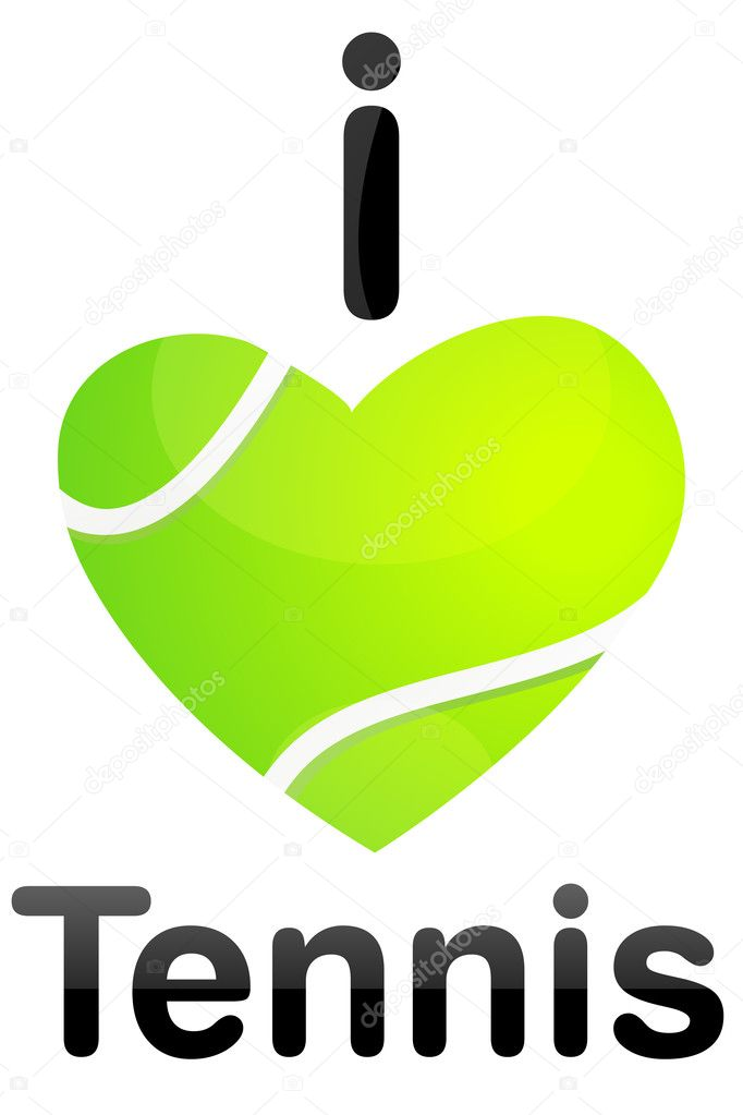 Illustration of i love tennis — Stock Photo #4164821