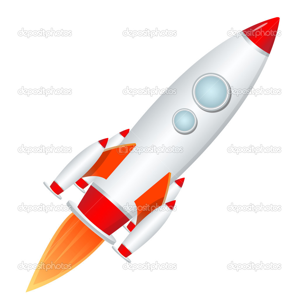 Illustration of rocket launcher on isolated background — Stock Photo #4164901