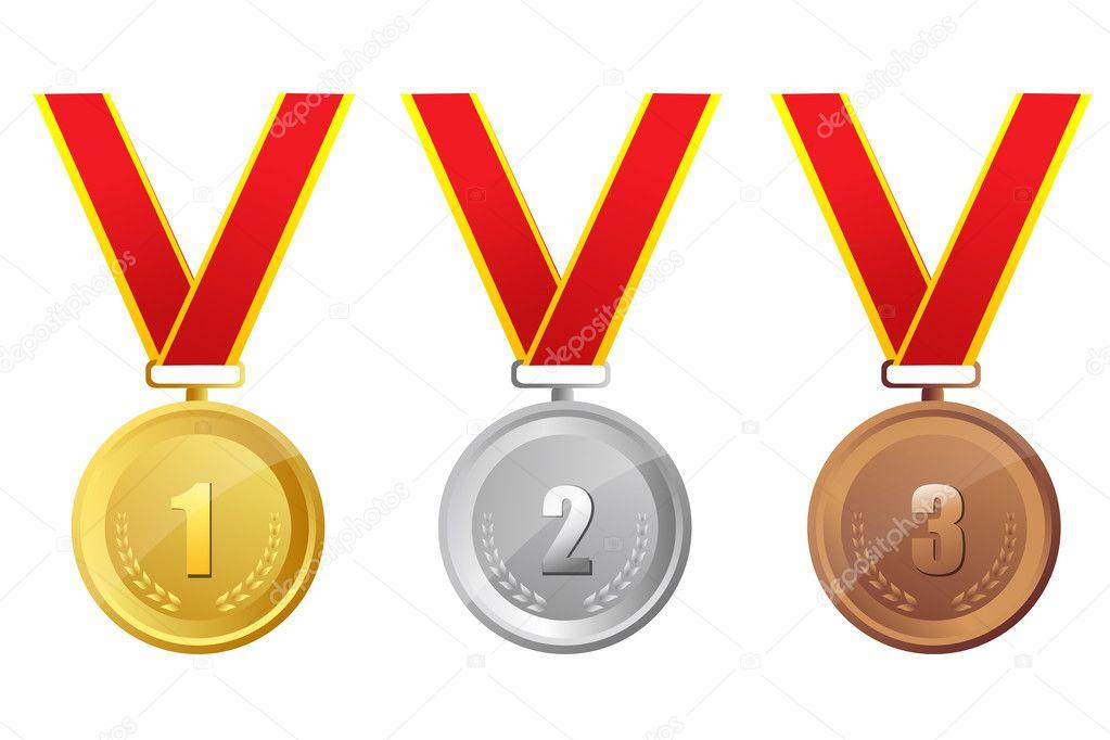 Złoty, Srebrny I Brązowy Medal