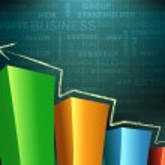 Bar graph — Stock Photo