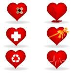 Illustration of heart on white background — Stock Photo