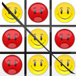 Tic tac toe smiley game - Stock Photo