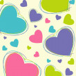 Retro heart background — Stock Photo #4246576