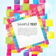 Text template with colorful blocks — Stock Photo
