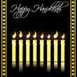 Happy hanukkah card - Stock Photo