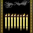 Happy hanukkah card — Stock Photo