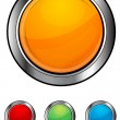 Glossy colorful buttons - Stock Photo