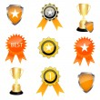 Prize icons - Stock Photo