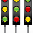 Stock Photo: Traffic signal icons