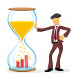 Businessman with hourglass — Stock Photo
