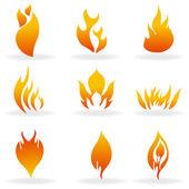 формы огня — Стоковое фото