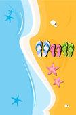 Beach slippers — Stock Photo