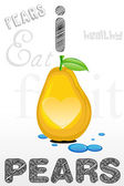 I love pears — Stock Photo