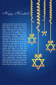Happy hanukkah with star of david — Stock Photo