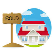 House for sell — Stock Photo