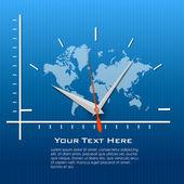 Dünya saati — Stok fotoğraf