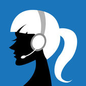 Lady with headphone — Stock Photo