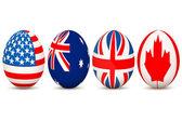 Banderas del país en huevo — Foto de Stock