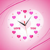 Valentine clock — Stock Photo