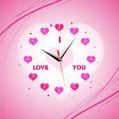 バレンタイン時計 — ストック写真