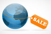 Global sale tag — Stock Photo