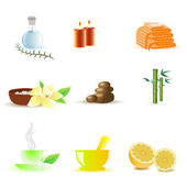 Spa icons — Stock Photo