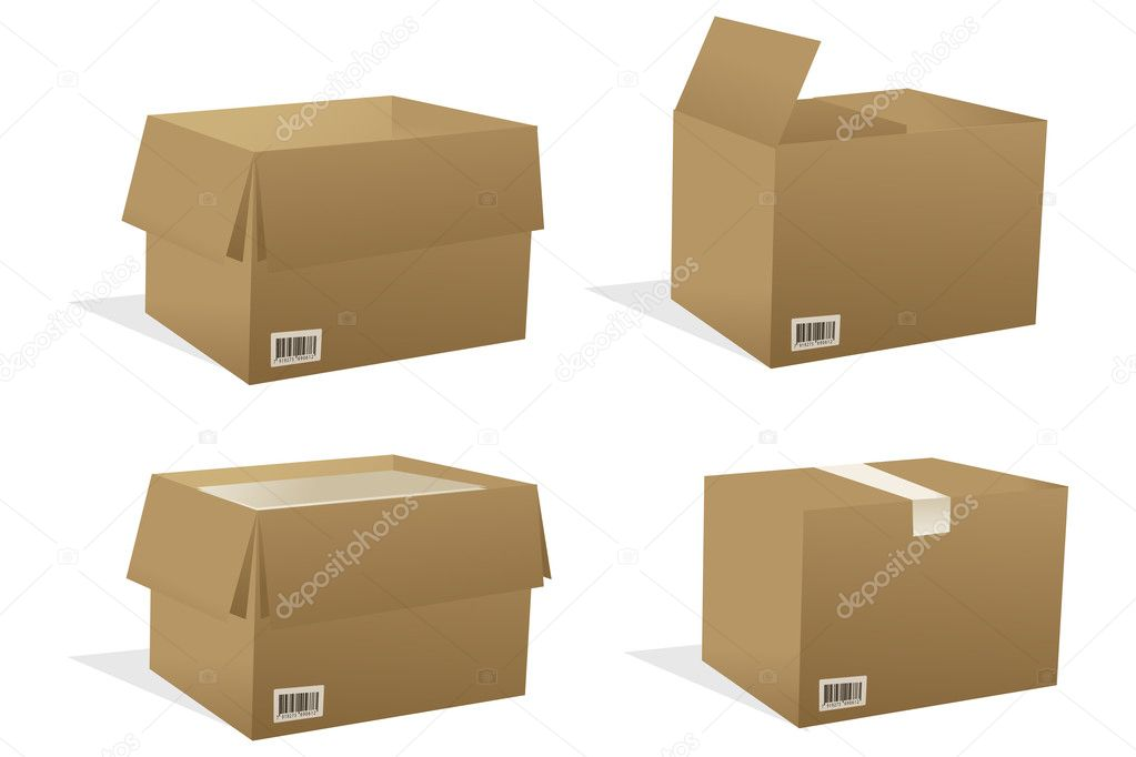 Illustration of boxes with white background — Stock Photo #4246386