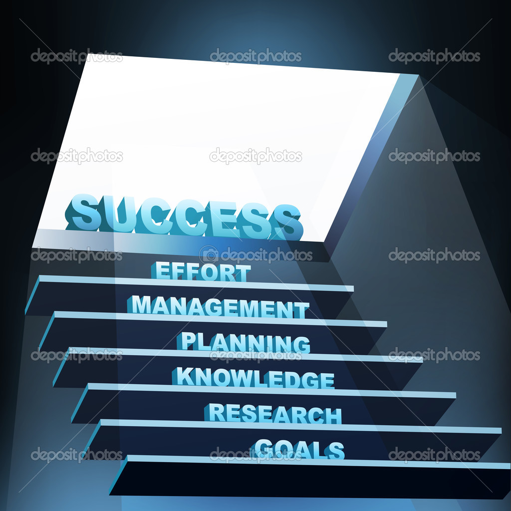 Illustration of steps of success — Stock Photo #4246499