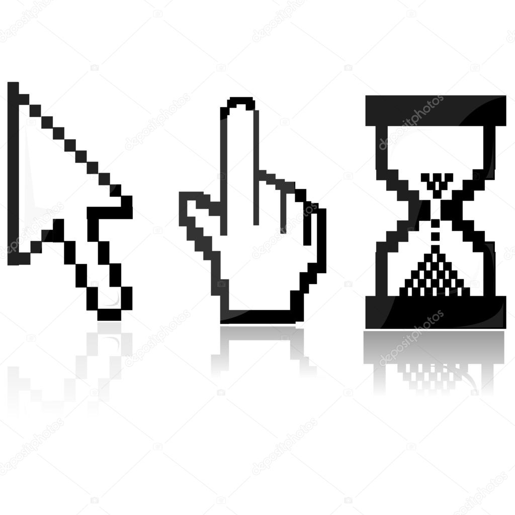 depositphotos 4246528 Mouse cursors Mouse pointers   5213132 | Royalty Free Stock Photos, Illustrations, ...