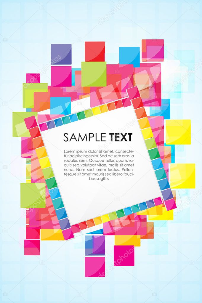 Illustration of text template with colorful blocks  Stock Photo #4246682