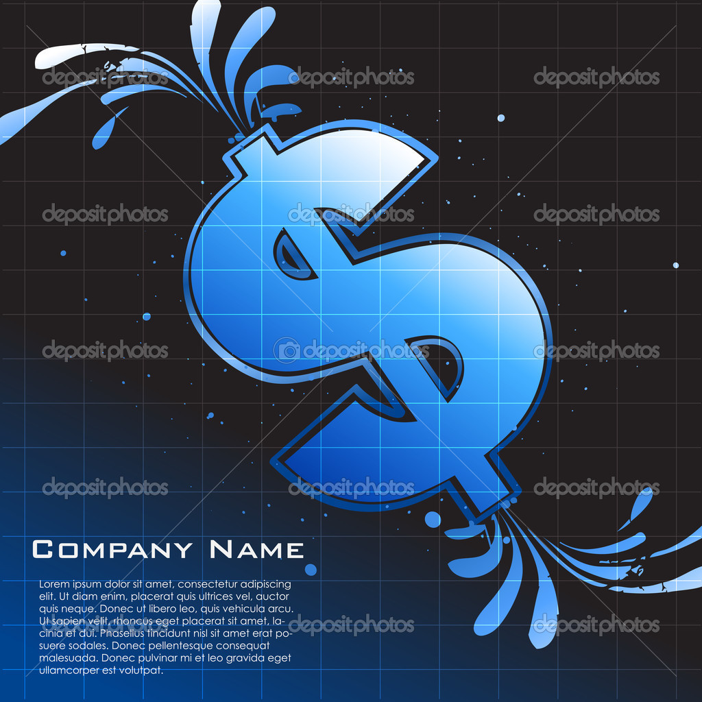 Illustration of business card with dollor icon — Stock Photo #4247005