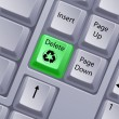 Recycle keyboard button — Stock Photo