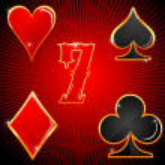 kleurrijke casino symbolen — Stockfoto