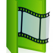 Royalty-Free Stock Photo: Movie folder