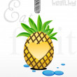 I love pineapple - Stock Photo