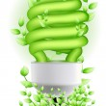 Green cfl — Stock Photo