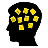 Business man's mind — Stock Photo