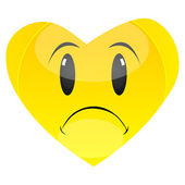 Sad heart — Stock Photo