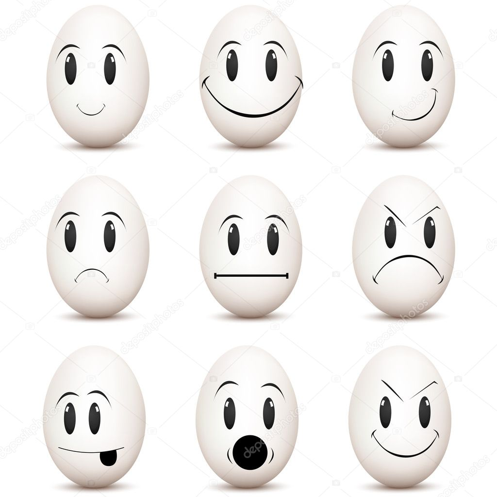 Illustration of types of mood on white background — Stock Photo #4263788