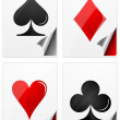 Symbol of playing cards — Stock Photo