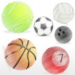 Stock Photo: Various sports ball