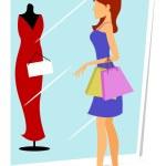 Shopping lady — Stock Photo