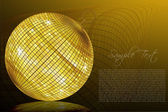 Sample card with golden ball — Stock Photo