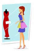 Shopping lady — Stockfoto