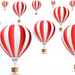 Parachute icons — Stock Photo